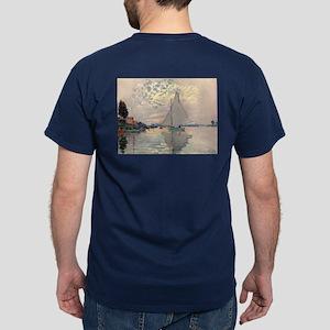 Sailboat at Le Petit Gennevillier Dark T-Shirt