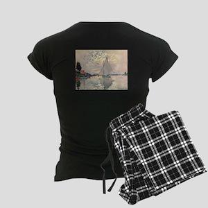 Sailboat at Le Petit Gennevi Women's Dark Pajamas