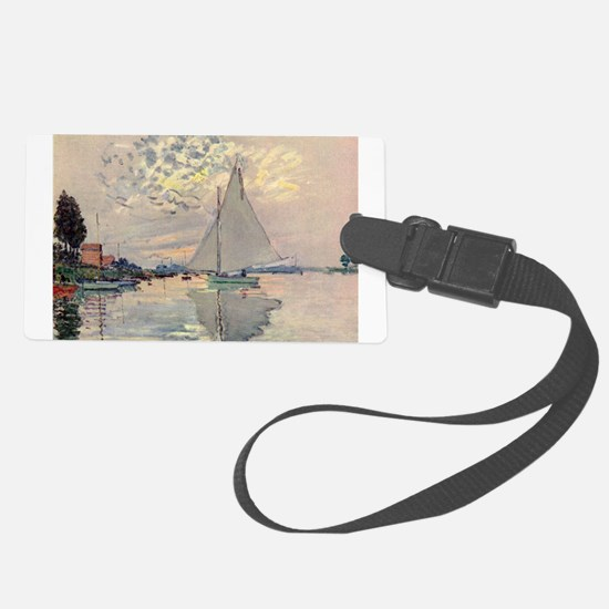 Sailboat at Le Petit Gennevillie Luggage Tag