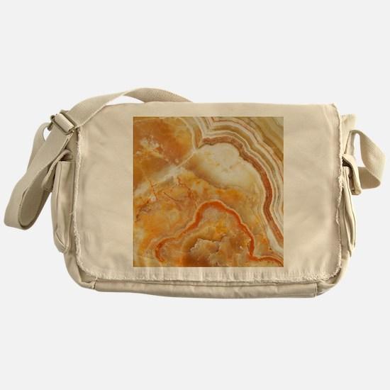 Beige Tones Marble stone Messenger Bag