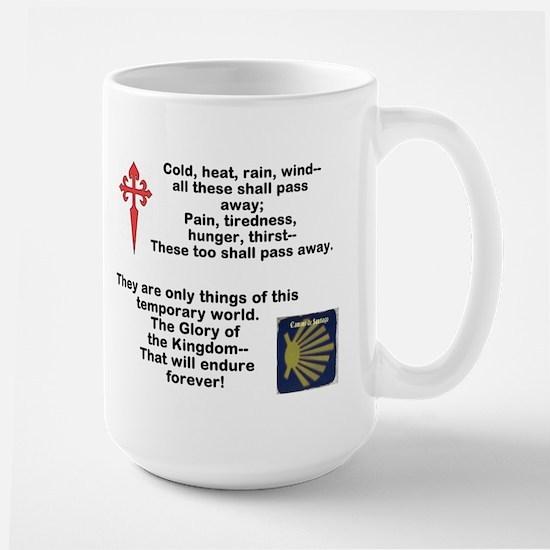 Camino Poem With Symbols Large Mugs