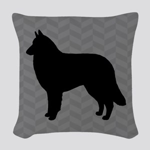 Belgian Tervuren Silhouette Woven Throw Pillow