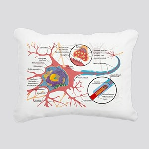 Neuron Cell Diagram Rectangular Canvas Pillow