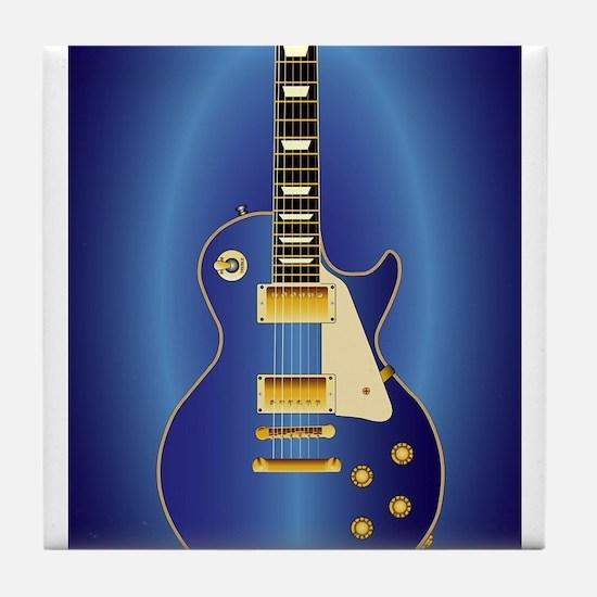 Blue Solid Electric Tile Coaster