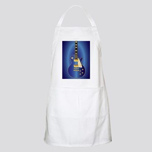 Blue Solid Electric Light Apron