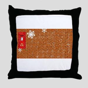 Christmas Paost Box Background Throw Pillow