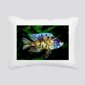 Aulonocara Cichlids Rectangular Canvas Pillow