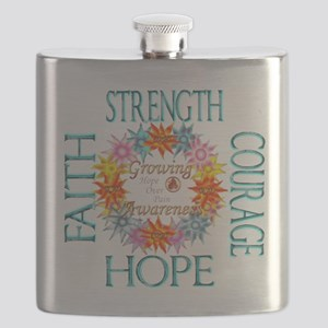 Faith Strength Courage CRPS RSD Growing Awar Flask