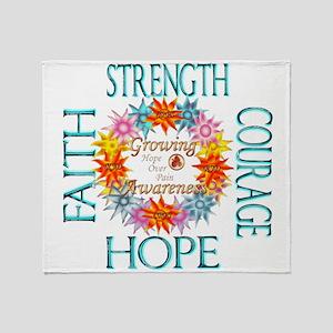 Faith Strength Courage CRPS RSD Grow Throw Blanket