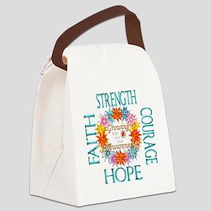 Faith Strength Courage CRPS RSD G Canvas Lunch Bag