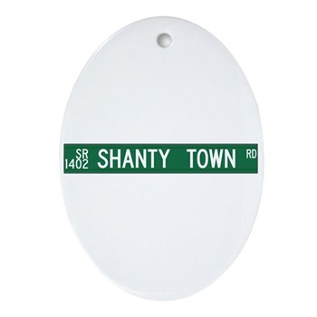 Shanty Town Road, Old Fort (NC) Oval Ornament