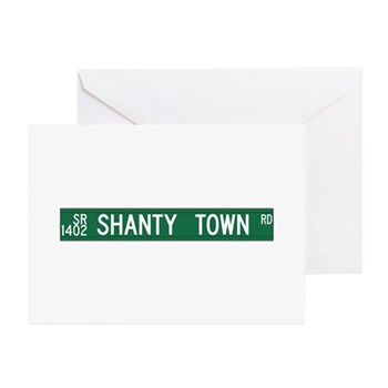 Shanty Town Road, Old Fort (NC) Greeting Cards (Pk