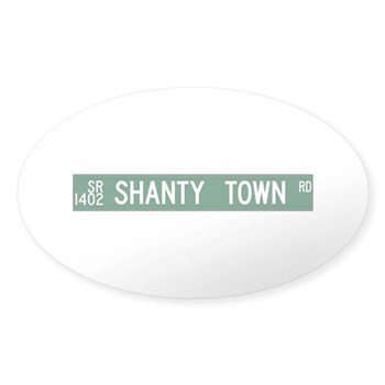 Shanty Town Road, Old Fort (NC) Oval Sticker