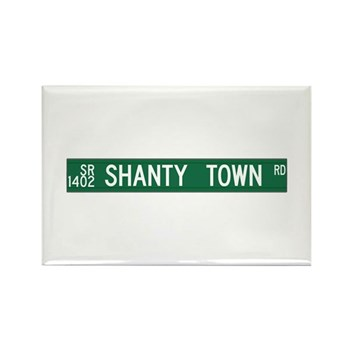 Shanty Town Road, Old Fort (NC) Rectangle Magnet