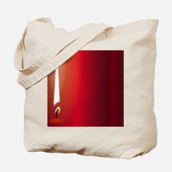 ChristmasmCandle Flame Tote Bag