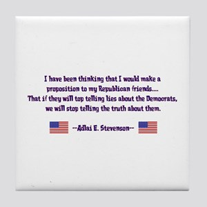 Adlai Stevenson Quote Tile Coaster