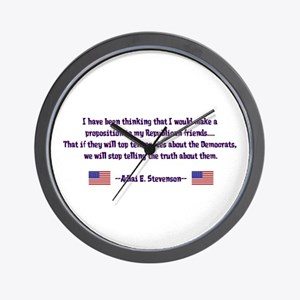 Adlai Stevenson Quote Wall Clock