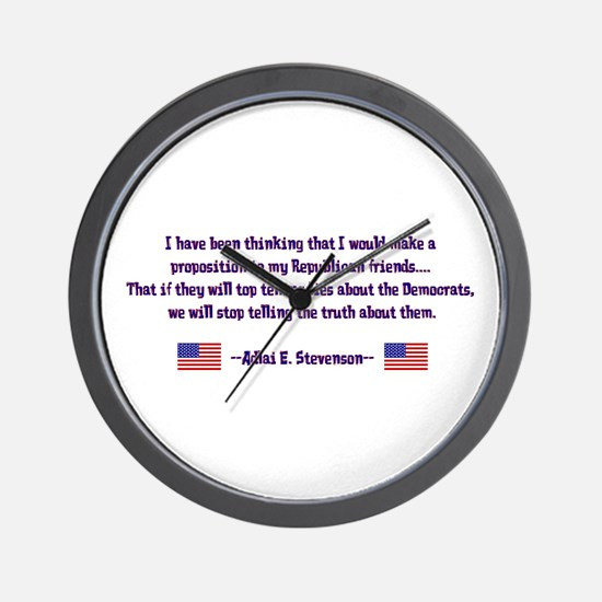 Adlai Stevenson Quote Wall Clock