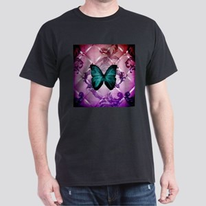 Purple girly teal butterfly T-Shirt
