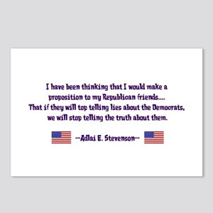 Adlai Stevenson Quote Postcards (Package of 8)