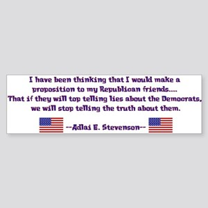 Adlai Stevenson Quote Bumper Sticker