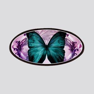 Purple girly teal butterfly Patch
