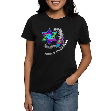 Happy Chanukah Women's Dark T-Shirt