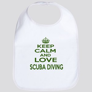 Keep calm and love Scuba Diving Cotton Baby Bib