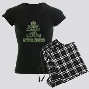 Keep calm and love Scuba Div Women's Dark Pajamas