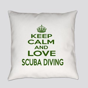 Keep calm and love Scuba Diving Everyday Pillow