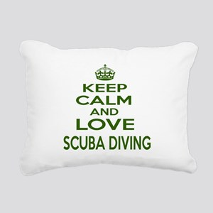 Keep calm and love Scuba Rectangular Canvas Pillow