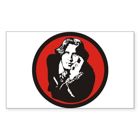 Oscar Wilde Rectangle Sticker
