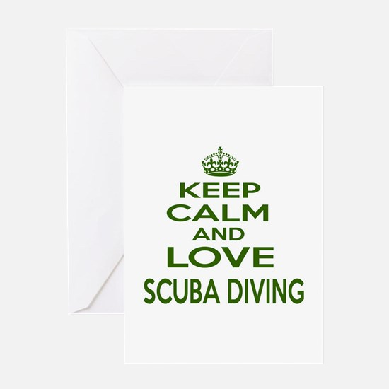 Keep calm and love Scuba Diving Greeting Card