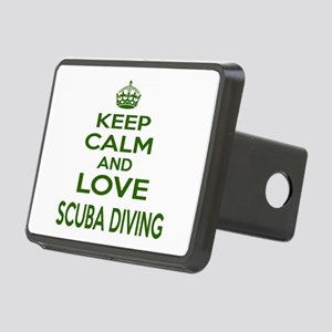 Keep calm and love Scuba D Rectangular Hitch Cover