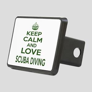 Keep calm and love Scuba D Rectangular Hitch Cover