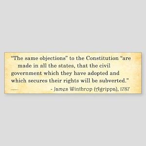 James Winthrop - Constitution - Bumper Sticker