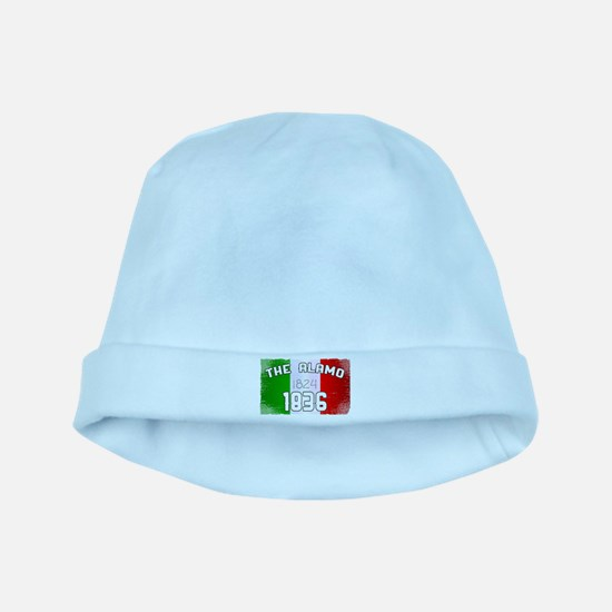 Alamo Flag and Date Baby Hat