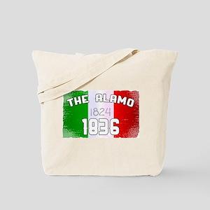 Alamo Flag and Date Tote Bag