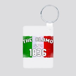 Alamo Flag and Date Keychains