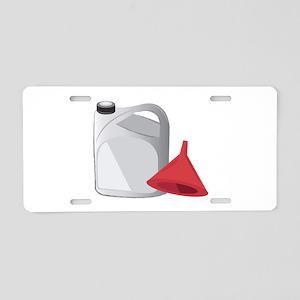 Car Fluid Aluminum License Plate