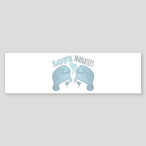 Love Manatees Bumper Sticker