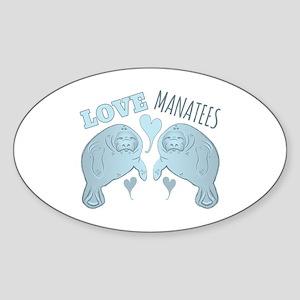 Love Manatees Sticker