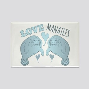 Love Manatees Magnets