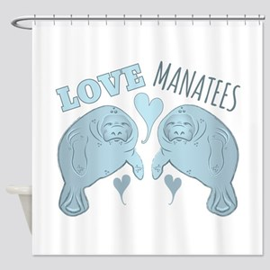 Love Manatees Shower Curtain