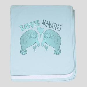 Love Manatees baby blanket