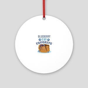 Blueberry Favorite Round Ornament
