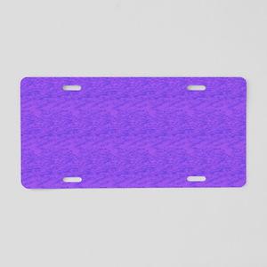 Purple Wash Aluminum License Plate