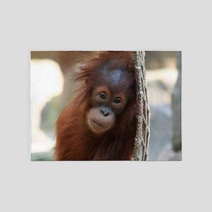 OrangUtan20151004 5'x7'Area Rug