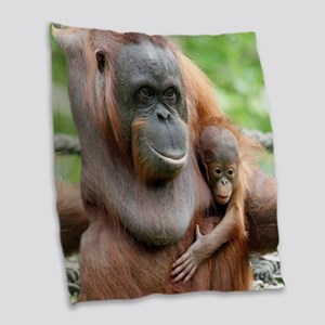 OrangUtan20151006 Burlap Throw Pillow