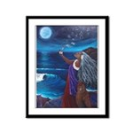 Wisdom of Moon Framed Panel Print
